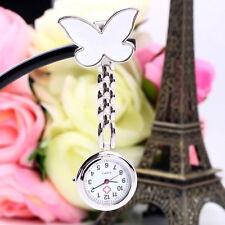 Schmetterling Krankenschwester Uhr Clip-on Anhänger Brosche Hänger Taschenuhr