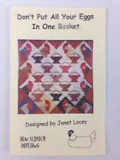 "Don't Put All Your Eggs in One Basket Quilt Sewing Pattern 41"" x 41"" Finish Size"