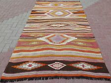 "Vintage Soft Color Rug Kilim,Antalya Rug 57,8""x100,3"" Turkish Kilim Rug Carpet"