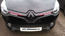 Renault Clio 4 2013+  GLOSS BLACK FRONT BADGE EMBLEM COVER ALL MODELS INC 220