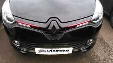Renault Clio 4 2013+  GLOSS BLACK FRONT BADGE EMBLEM COVER ALL MODELS INC200,220