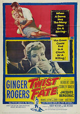 Twist of Fate (Film Noir '54) Ginger Rogers, Jacques Bergerac.