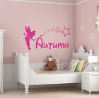 Personalised Fairy Girls Childrens Bedroom Vinyl Wall Art Sticker Any Name