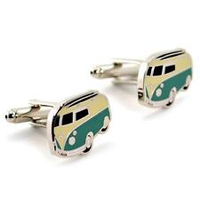 VW SURFER BUS CUFFLINKS Volkswagon Hippie Van NEW GIFT BAG Pair Men's Jewelry