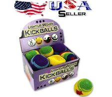 24PCS LIGHT UP WOVEN KICK SACK WHOLESALE COUNTERTOP DISPLAY KIDS PLAY TOY PARTY