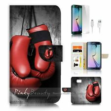 Samsung Galaxy ( S7 Edge ) Flip Wallet Case Cover P2072 Boxing Gloves