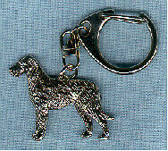 Irish Wolfhound Nickel Silver Key Ring Holder Key Chain Jewelry