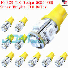 JDM ASTAR 10x T10 5050 SMD Amber Yellow LED Car Lights Bulb 194 168 2825 W5W 175