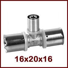16x2-20x2,25-16x2 U Pressfitting-T-Stück Heizung Sanitär Kontur U