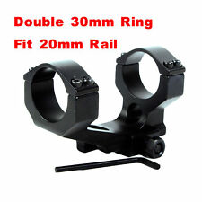 1PC 30mm Double Ring 20mm Rail Cantilever Mount For Hunting Scope Sight