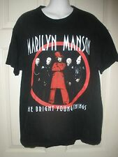 """#1179 MARILYN MANSON THE BRIGHT YOUNG THINGS L T SHIRT """"WE DON'T REBEL TO SELL"""""""