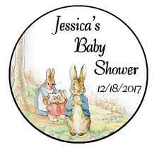 24 PETER RABBIT PERSONALIZED BABY SHOWER THANK YOU PARTY STICKERS FAVORS LABELS