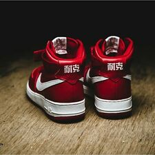 NEW NIKE AIR FORCE 1 AF1 CHINESE  NAI KE CHERRY RED AND WHITE BNIB DS SIZE 10.5
