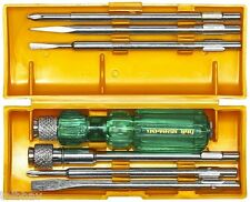 Taparia Combination Screw Driver Set 840 (Pack of 6) Special with Neon Bulb