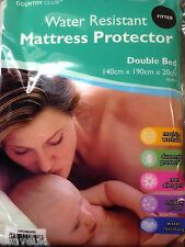 DOUBLE BED MATTRESS PROTECTOR WATER RESISTANT fitted