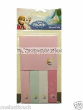 DISNEY FROZEN Bookmark Marker MEMO PADS Flags/Index/Tab STICKY NOTES For Kids