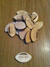 x25 wooden rugby balls, crafts, cardmaking, embellishment