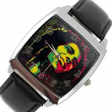 NEW BOB MARLEY JAMAICA REGGAE RASTA SOUL LEATHER MUSIC LEGEND SQUARE CD WATCH