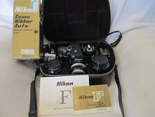 Nikon F Photomic FTN 35mm SLR Film Camera Kit with 4 Lenses