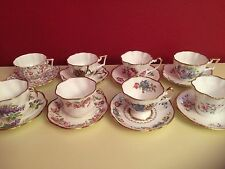 Vtg Salisbury Bone China Tea Cup/Saucer Set of 8