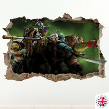 3D TEENAGE MUTANT NINJA TURTLES Wall Sticker Bedroom Decal Nursery Vinyl Poster