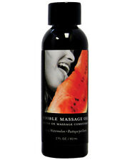 Sensual & Desirable Earthly Body Edible Massage Oil - 2 oz Watermelon