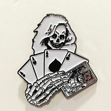 DEATH DEALER Samhain Metal Enamel Pin Misfits Danzig punk metallica horror
