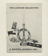 1957 Georg Jensen LUNNING COLLECTION Scandinavian Modern Design Holiday Catalog