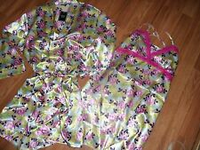 chemise nightgown & matching robe ~ floral w/ pink lace ~  medium