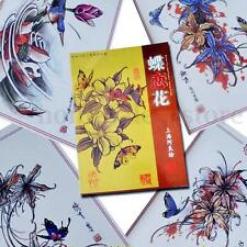 Butterfly & Flowers Tattoo Art Design Flash Manuscript Sketch Book A4 60 pages