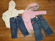 2 Old Navy Outfits Hooded Sweaters & Jeans Size 6-12 Months