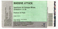 MASSIVE ATTACK - Ticket Concert TOUR 2014 - Ippodromo del Galoppo - 25 06 MILANO