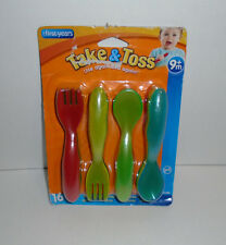 The First Years Take & Toss Toddler Fork And Spoon Flatware 16 total BPA FREE