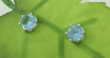 Sassi AE3297 Sterling Silver Blue Topaz Coloured Cubic Zirconia CZ Stud Earrings