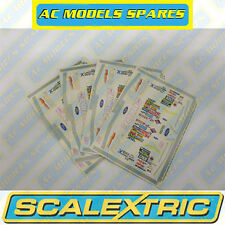 M3765 Scalextric Sticker Sheet (x4) NASCAR Thunderbolt