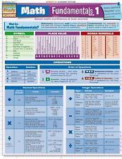 MATH FUNDAMENTALS 1 Quick Study Academic Laminated Full Page Card Binder NEW
