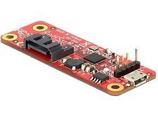 Delock Konverter Raspberry Pi USB Micro-B B./USB Pin Header   SATA 7 Pin 62626