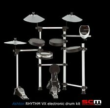 BONUS STOOL* ASHTON ELECTRONIC DRUM KIT RHYTHM VX DRUMKIT with DUAL ZONE SNARE