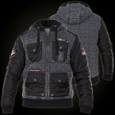 NWT AFFLICTION mens BLACK PREMIUM STILL STANDING QUILTED jacket size XXL 3967-68