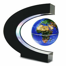 LED Light C shape Decoration Magnetic Levitation Floating World Map Globe Decor