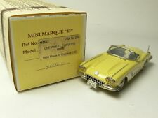 CHEVROLET CORVETTE OPEN 1959 MINI MARQUE'43 USA NO.22B 1:43 MADE IN ENGLAND