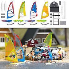 BUSCH 1156 H0, Windsurfer-Set , Bausatz, Neu
