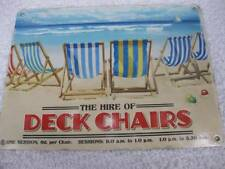 Vintage Style Good Quality Metal Sign Wall Plaque-DECK CHAIRS FOR HIRE-fab!
