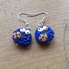 earrings Cookie Monster Drops Handmade Cute Retro Valentines Day Gift