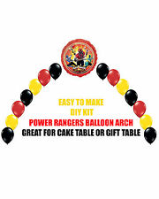 Power Rangers Samurai Birthday Party BALLOON ARCH for Cake Table Gift Table