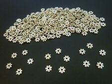 400 pce Antique Silver Daisy Spacer Beads 4mm