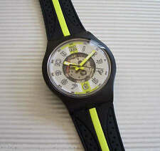 OVERTAKING FLUO! Swatch Jelly In Jelly SNOWPASS/ACCESS w SEE THRU Dial-RARE!