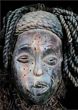 Old Tribal Chokwe Rasta Mask  -- Angola   BG 5