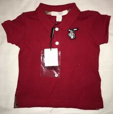 Burberry Baby Boys 2 Button Collared Short Sleeve Shirt 6 Months