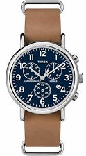 Timex TW2P62300 Men's Weekender Indiglo Slip-On Leather Band Chronograph Watch